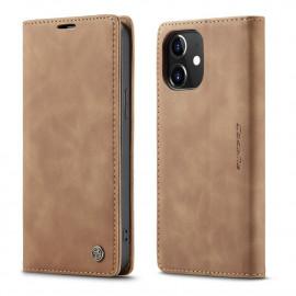 CaseMe Book Case iPhone 12 / 12 Pro Hoesje - Bruin