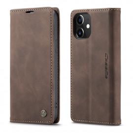 CaseMe Book Case iPhone 12 / 12 Pro Hoesje - Donkerbruin
