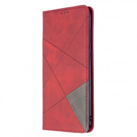 Geometric Book Case Samsung Galaxy M11 / A11 Hoesje - Rood
