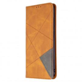 Geometric Book Case Samsung Galaxy M11 / A11 Hoesje - Bruin