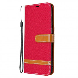 Denim Book Case Samsung Galaxy M11 / A11 Hoesje - Rood