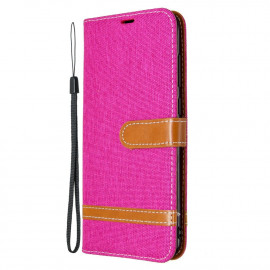 Denim Book Case Samsung Galaxy M11 / A11 Hoesje - Roze