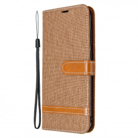 Denim Book Case Samsung Galaxy M11 / A11 Hoesje - Bruin