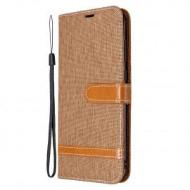 Denim Book Case Samsung Galaxy M11 / A11 Hoesje - Bruin