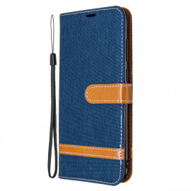 Denim Book Case Samsung Galaxy M11 / A11 Hoesje - Blauw