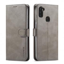 Luxe Book Case Samsung Galaxy M11 / A11 Hoesje - Grijs