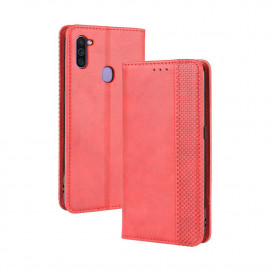 Vintage Book Case Samsung Galaxy M11 / A11 Hoesje - Rood