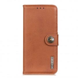 Classic Book Case Samsung Galaxy A42 Hoesje - Bruin
