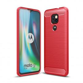 Armor Brushed TPU Motorola Moto G9 Play Hoesje - Rood