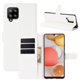 Book Case Samsung Galaxy A42 Hoesje - Wit