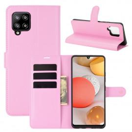 Book Case Samsung Galaxy A42 Hoesje - Pink