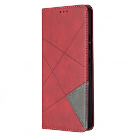 Geometric Book Case Samsung Galaxy A42 Hoesje - Rood