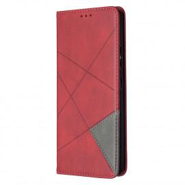 Geometric Book Case Samsung Galaxy A42 Hoesje - Rood