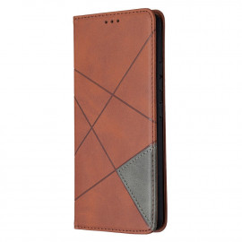 Geometric Book Case Samsung Galaxy A42 Hoesje - Donkerbruin