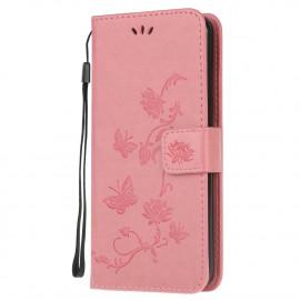 Bloemen Book Case Samsung Galaxy A42 Hoesje - Pink