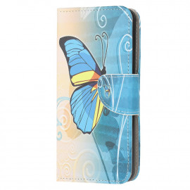 Book Case Samsung Galaxy A42 Hoesje - Blauwe Vlinder
