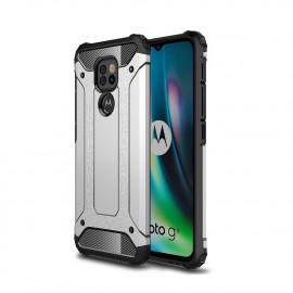 Armor Hybrid Motorola Moto G9 Play Hoesje - Grijs