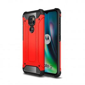 Armor Hybrid Motorola Moto G9 Play Hoesje - Rood