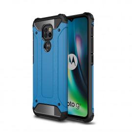 Armor Hybrid Motorola Moto G9 Play Hoesje - Lichtblauw