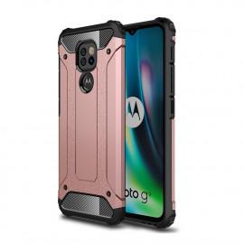 Armor Hybrid Motorola Moto G9 Play Hoesje - Rose Gold