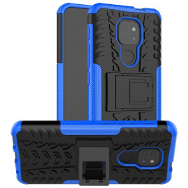 Rugged Kickstand Motorola Moto G9 Play Hoesje - Blauw
