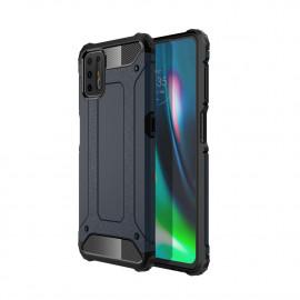 Armor Hybrid Motorola Moto G9 Plus Hoesje - Donkerblauw