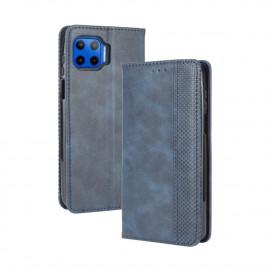 Vintage Book Case Motorola Moto G 5G Plus Hoesje - Blauw
