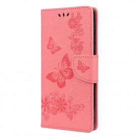Vlinder Book Case Motorola Moto G9 Play Hoesje - Pink