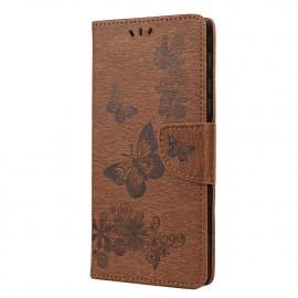 Vlinder Book Case Motorola Moto G9 Play Hoesje - Bruin