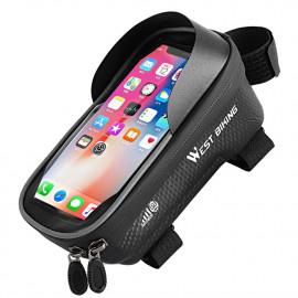 Fietstas voor Smartphone op Bovenbuis - Zwart