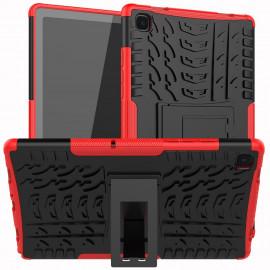 Rugged Kickstand Samsung Galaxy Tab A7 (2020) Hoesje - Rood
