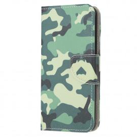 Book Case Motorola Moto E7 Hoesje - Camouflage