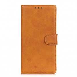 Luxe Book Case Motorola Moto E7 Hoesje - Bruin