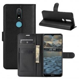 Book Case Nokia 2.4 Hoesje - Zwart