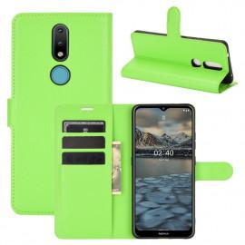 Book Case Nokia 2.4 Hoesje - Groen