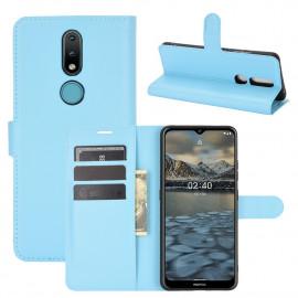 Book Case Nokia 2.4 Hoesje - Lichtblauw