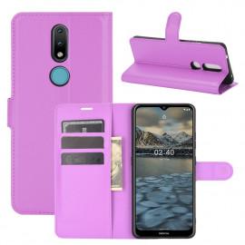 Book Case Nokia 2.4 Hoesje - Paars