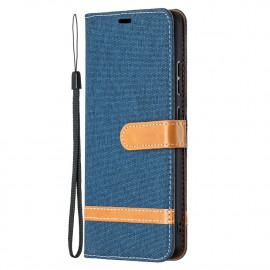 Denim Book Case Nokia 2.4 Hoesje - Blauw