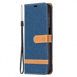 Denim Book Case Samsung Galaxy A32 5G Hoesje - Blauw