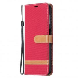 Denim Book Case Samsung Galaxy A32 Hoesje - Rood