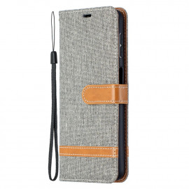 Denim Book Case Samsung Galaxy A32 Hoesje - Grijs