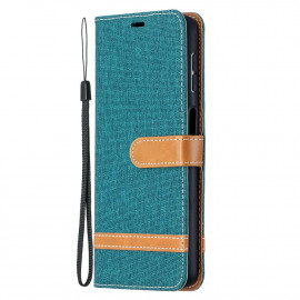 Denim Book Case Samsung Galaxy A32 5G Hoesje - Groen