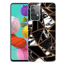 Marmer TPU Samsung Galaxy A32 Hoesje - Zwart / Goud
