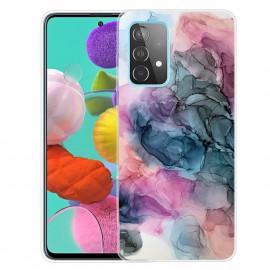 Marmer TPU Samsung Galaxy A32 Hoesje - Blauw / Roze