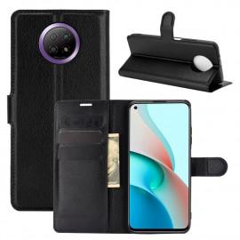 Book Case Xiaomi Redmi Note 9T Hoesje - Zwart