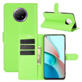 Book Case Xiaomi Redmi Note 9T Hoesje - Groen