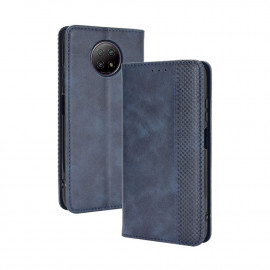 Vintage Book Case Xiaomi Redmi Note 9T Hoesje - Blauw