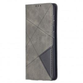 Geometric Book Case Samsung Galaxy S21 Hoesje - Grijs