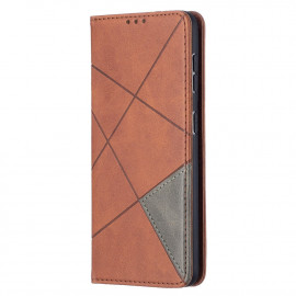 Geometric Book Case Samsung Galaxy S21 Hoesje - Donkerbruin