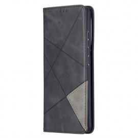 Geometric Book Case Samsung Galaxy S21 Ultra Hoesje - Zwart